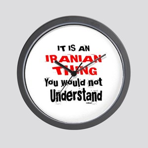 It Is Iranian Thing Wall Clock