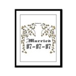 Anniversary Married 07-07-07 Framed Panel Print