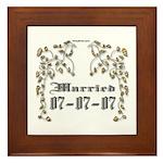 Anniversary Married 07-07-07 Framed Tile