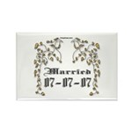 Anniversary Married 07-07-07 Rectangle Magnet (10