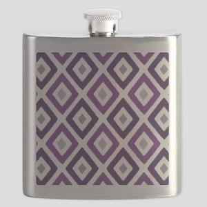 Ikat Pattern Purple Diamond Flask