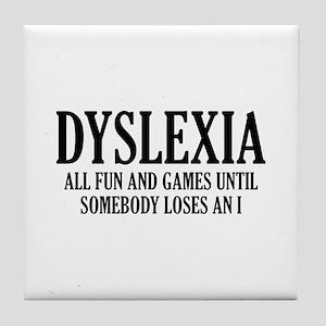 Dyslexia Tile Coaster