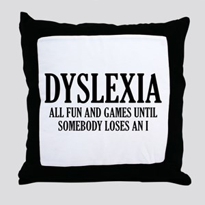 Dyslexia Throw Pillow