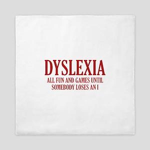 Dyslexia Queen Duvet