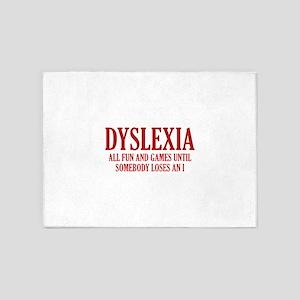 Dyslexia 5'x7'Area Rug