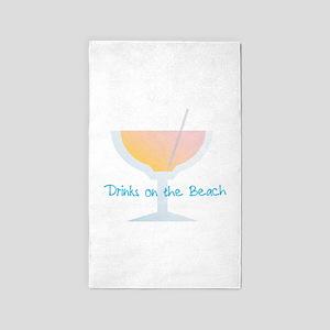 Drinks On The Beach Area Rug