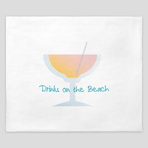 Drinks On The Beach King Duvet
