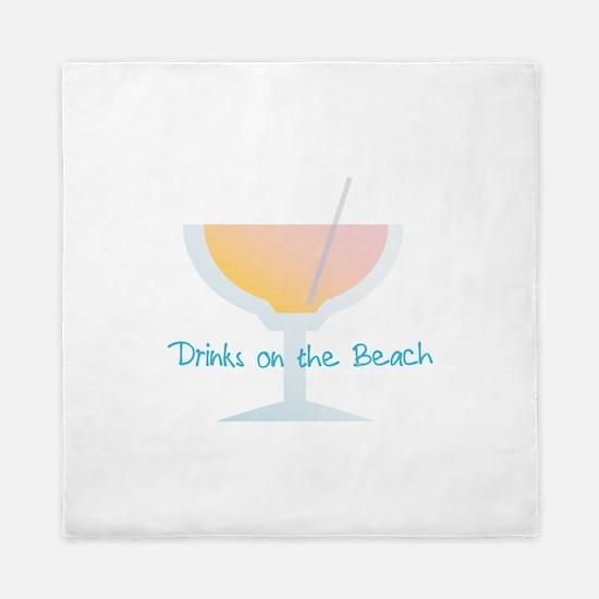 Drinks On The Beach Queen Duvet