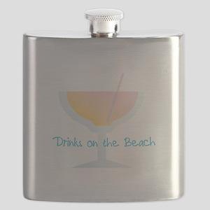 Drinks On The Beach Flask