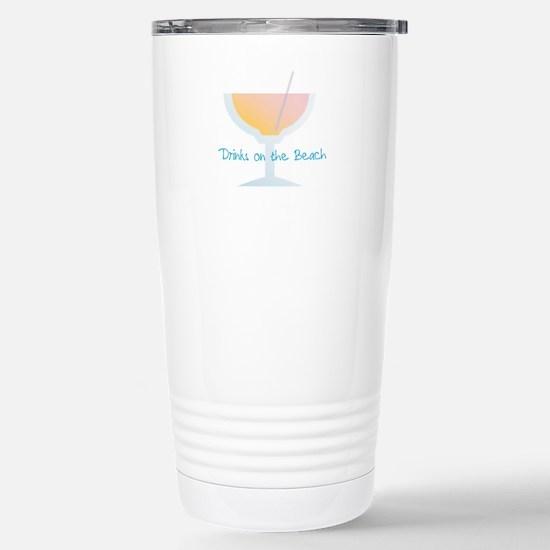 Drinks On The Beach Travel Mug
