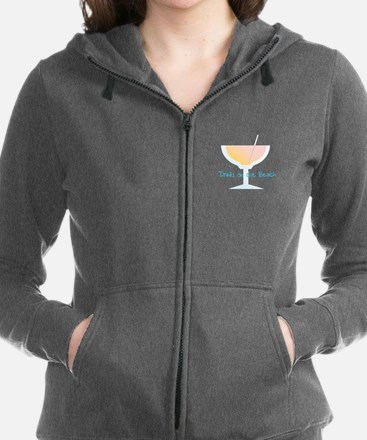 Drinks On The Beach Women's Zip Hoodie