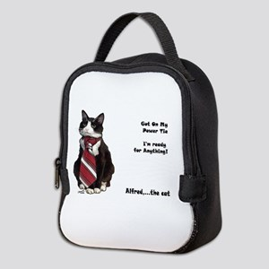 Alfred The cat Neoprene Lunch Bag