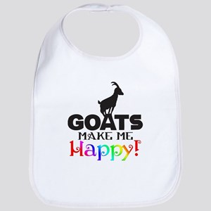 GOATS Make me Happy Bib