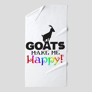 GOATS Make me Happy Beach Towel