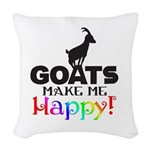 GOATS Make me Happy Woven Throw Pillow