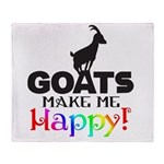 GOATS Make me Happy Throw Blanket