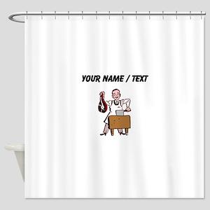 Custom Butcher Shower Curtain