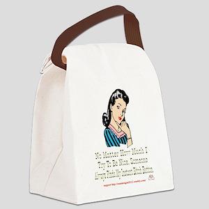 No Matter Canvas Lunch Bag