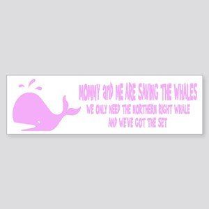 Saving the Whales Bumper Sticker