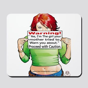 warning Mousepad