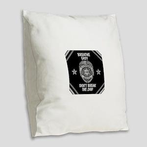 Breathe Easy! Burlap Throw Pillow