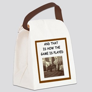 bocce joke Canvas Lunch Bag