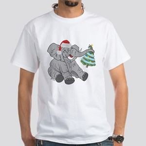 GOP Elephant w/ Tree Christmas/Holiday White T