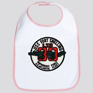 USS FORT SNELLING Cotton Baby Bib