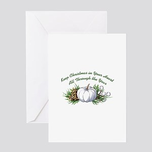 CHRISTMAS IN YOUR HEART Greeting Cards