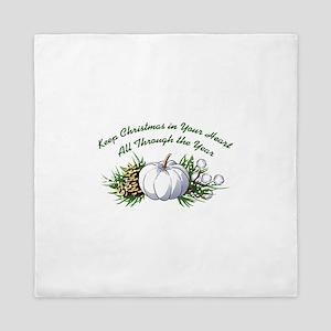 CHRISTMAS IN YOUR HEART Queen Duvet