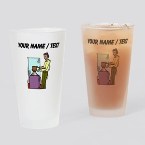 Custom Barber Drinking Glass