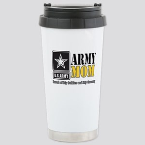 Army Mom Proud Stainless Steel Travel Mug