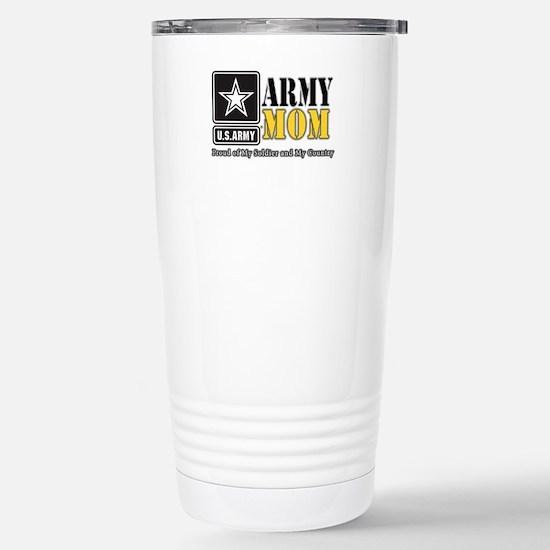 Army Mom Proud Stainless Steel Travel Mug