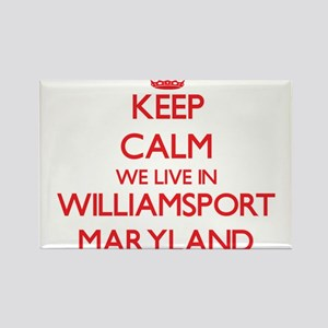 Keep calm we live in Williamsport Maryland Magnets