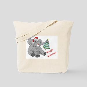GOP Elephant w/ Christmas Tree Tote Bag