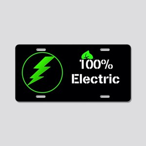 100% Electric Aluminum License Plate
