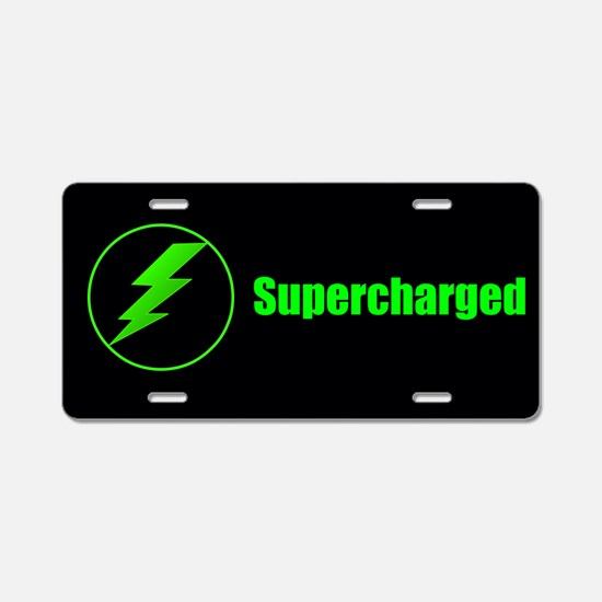 Electric Supercharged Aluminum License Plate