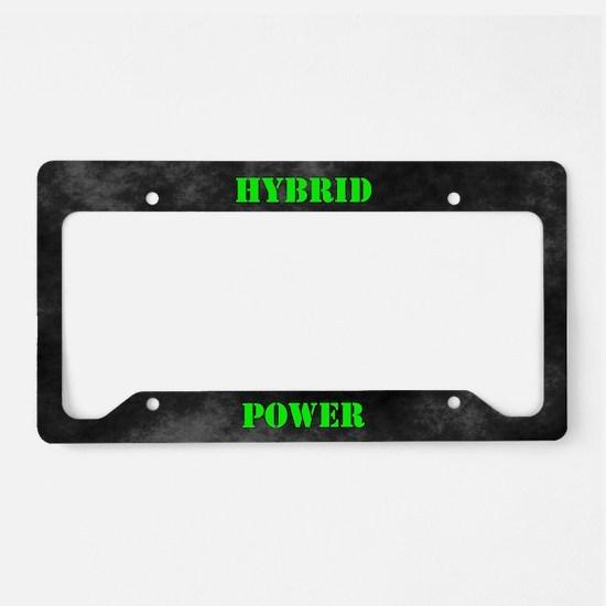 Hybrid Power License Plate Holder
