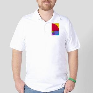 Fibonacci Mathlete Pop Art Golf Shirt