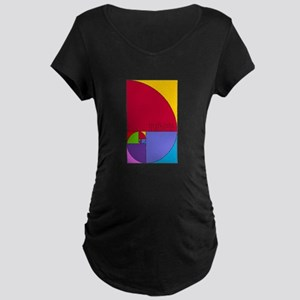 Fibonacci Mathlete Pop Art Maternity T-Shirt