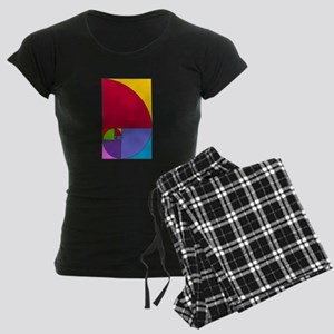 Fibonacci Mathlete Pop Art Women's Dark Pajamas