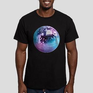 Disco Ball Graphic Men's Fitted T-Shirt (dark)
