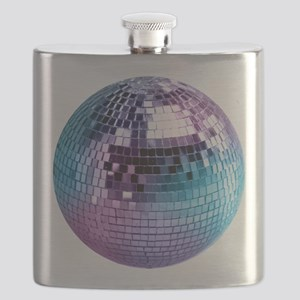 Disco Ball Graphic Flask