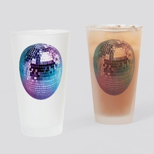 Disco Ball Graphic Drinking Glass