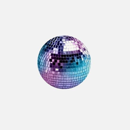 Disco Ball Graphic Mini Button