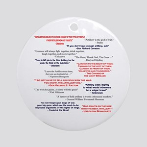 Artillery Quotes Ornament (Round)
