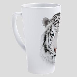 White Tiger Head 17 oz Latte Mug