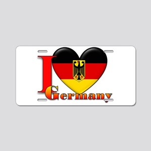 I love Germany Aluminum License Plate
