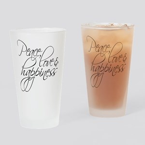 Peace Love Happiness - Drinking Glass