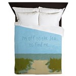 Sea Beach Ocean Quote Queen Duvet